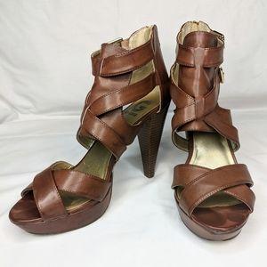 GUESS Platform Heel Sandals size 11